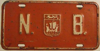 NEW BRUNSWICK 1967 ---OPTIONAL FRONT PLATE ---#5 N.B. and PROVINCIAL CREST