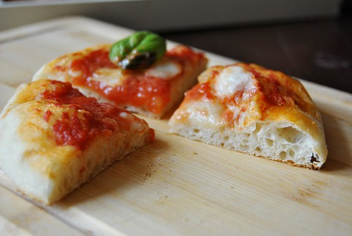 Pizza  with sourdough starter