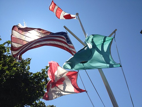 Flags over Friday Harbor by The Bacher Family