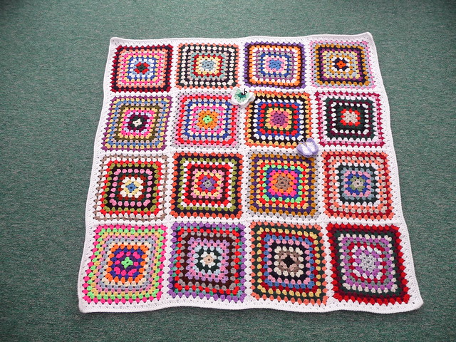130. Such a pretty Granny square blanket Joanna.