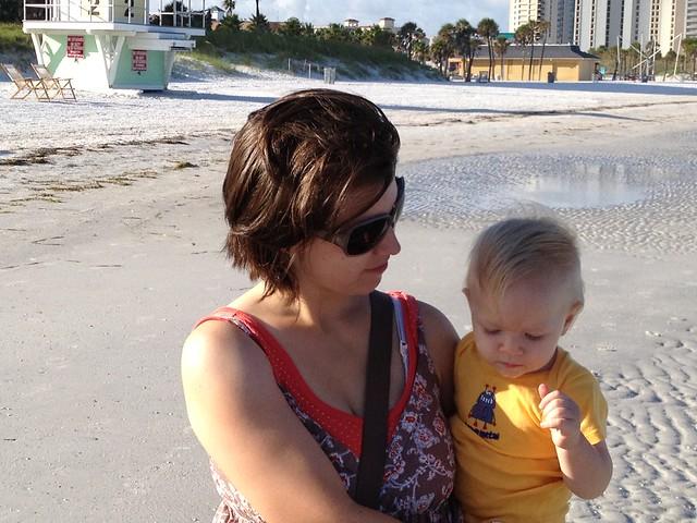 Faith & Eli on the beach