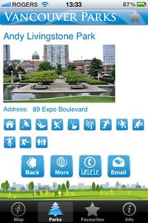 Vancouver Parks App