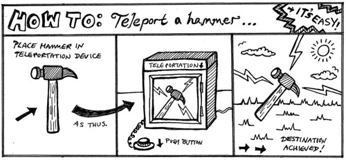 How to teleport a hammer