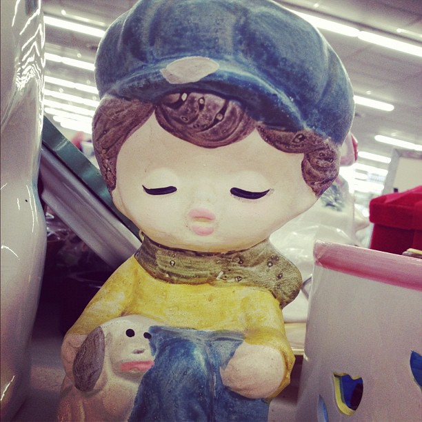 Saw this cute little piggy bank at the thrift store today--it was hard putting it back! #thriftstore