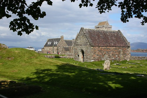 St. Oran's Chapel with Iona Abbey behind