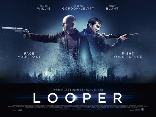 Looper - Affiche Ban Bruce Willis + Joseph Gordon-Levitt