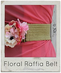 How to make a floral raffia belt