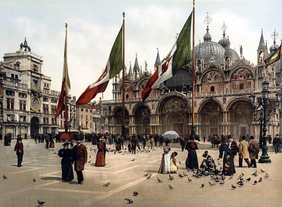 St. Mark's Church and the clock, Venice, Italy