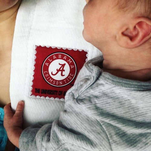 We're ready for today's game against Ole Miss. #RollTide Made with love by @knitterm