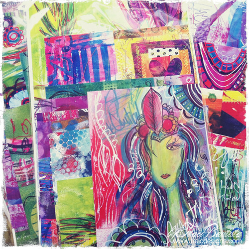 doodles unleashed collage kits on etsy