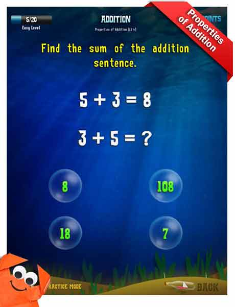 Grade 3 Math App - addition