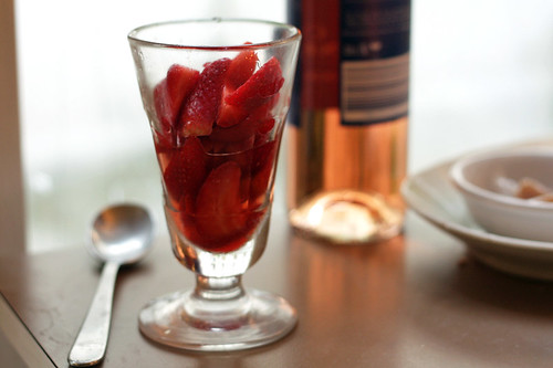 strawberries in glass