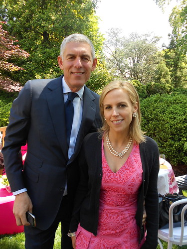 Lyor Cohen and his lady friend designer Tory Burch