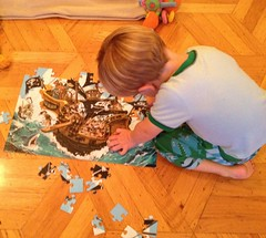 Finn can finish a 100 piece puzzle with no help. He just turned 3 last month. -gloating