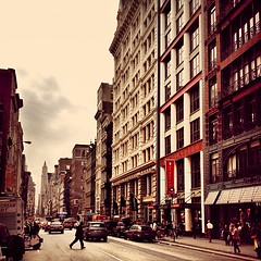 Crossing - Lower Broadway - New York City