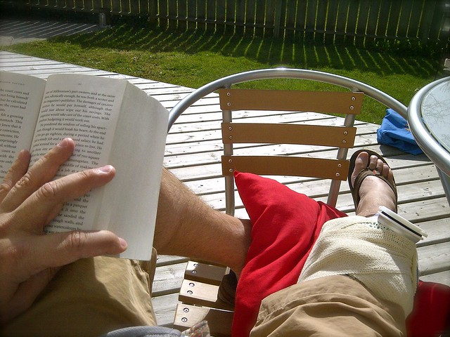 sunshine book reading