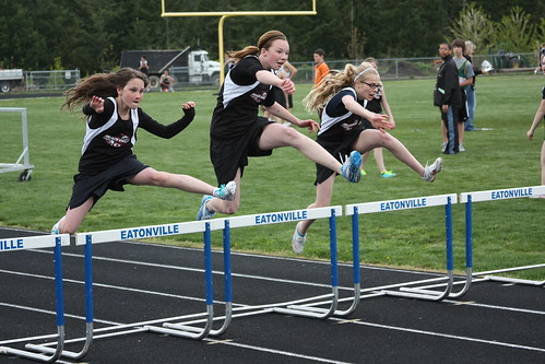 Synchronized hurdling by The Bacher Family