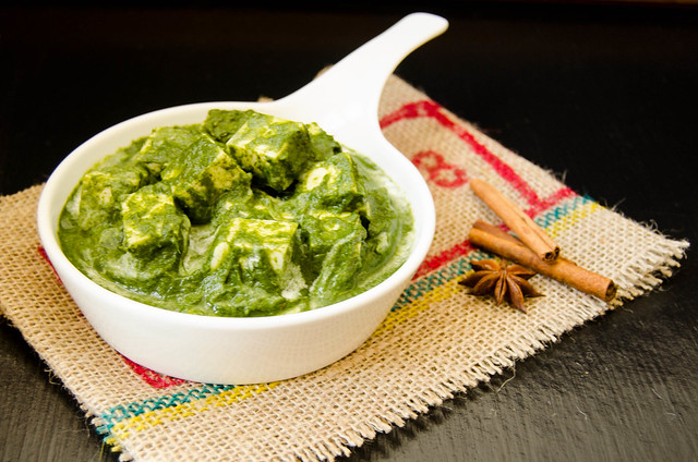 Palak Paneer with Cookin' Greens Flash Frozen Spinach