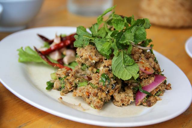 Larb Pla Duk (Catfish Salad) ลาบปลาดุก