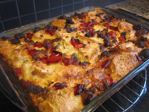 Sausage and Bell Pepper Strata