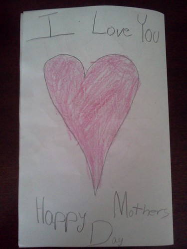 back of Mother's Day card from Troy