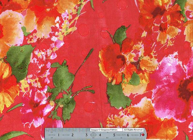 floral jacquard cotton voile