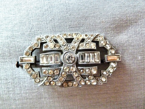 Art Deco Diamante Brooch