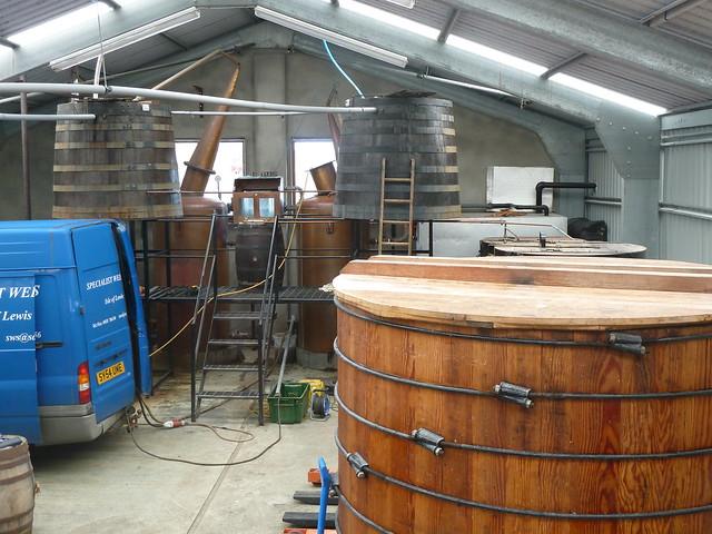 Inside Abhainn Dearg Distillery, Isle of Lewis
