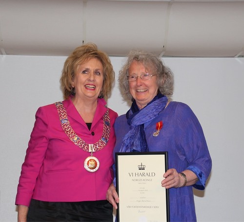 Inger Marie Stein is honored with The King's medal of Merit