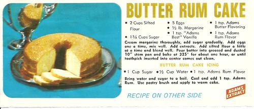 Classic Adams Butter Rum Cake