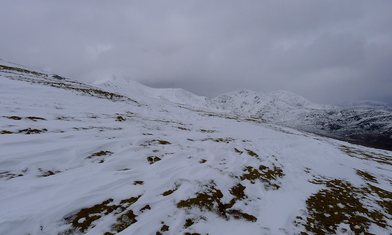 Snow on the slopes of the Strathfarrar Ridge