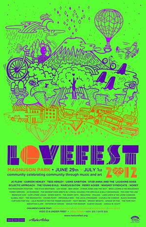 Northwest LoveFest Poster, Seattle