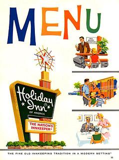 1962 ... Holiday Inn menu