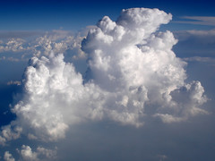 Cumulus cloud from above