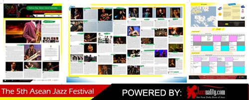 asean jazz festival 2012, the 5th asean jazz festival, newsletter