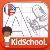 Karo Design, Caroline Huet - KidSchool - mon premier alphabet en français et en anglais