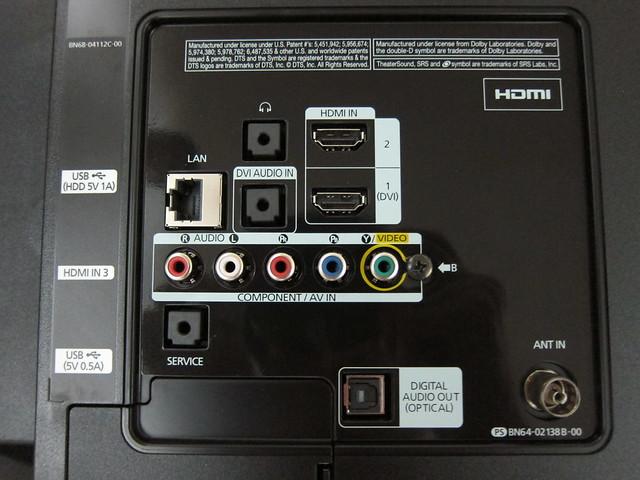 UA32ES5500M - Back Panel