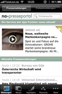 Startseite App Presseportal
