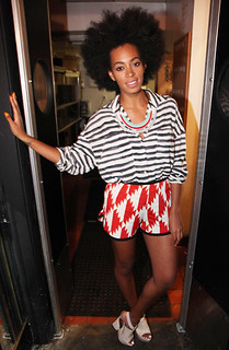 Solange Knowles Clashing Prints Celebrity Style Women's Fashion