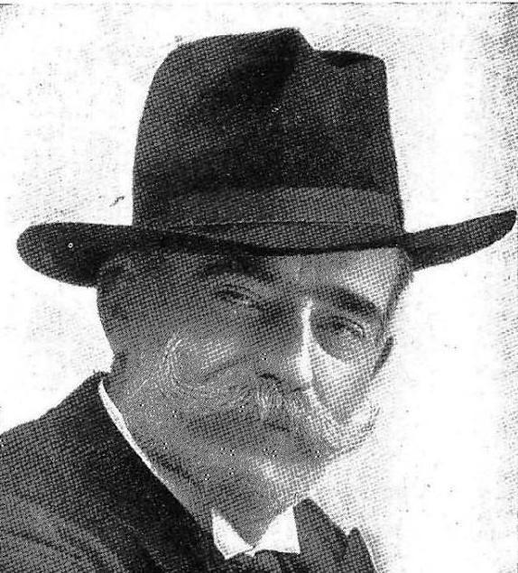 """Manuel Compañy. Fotografía aparecida en la revista """"Por esos mundos"""" (1909)"""