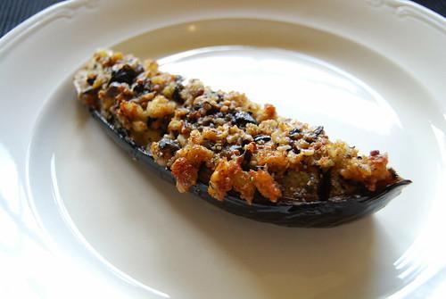 aubergines met kappertjes en olijven