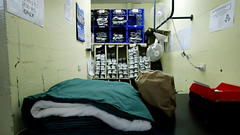 Prisoners are issued their bedding and toiletries from this section of the Arthur Gorrie Correctional Centre