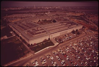 Aerial View Of The Pentagon And One Of Its Parking Fields, April 1973