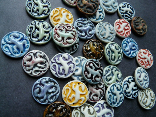 Porcelain Newt Charm Sets