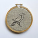 bird embroidery in hoop