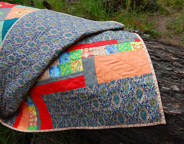 Rainbow Pop Quilt (back)