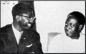 Congolese leader Patrice Lumumba with Ghanian President Kwame Nkrumah. The imperialist attack on Congo in 1960-61 was designed to halt Pan-Africanism and Socialism in Africa. by Pan-African News Wire File Photos