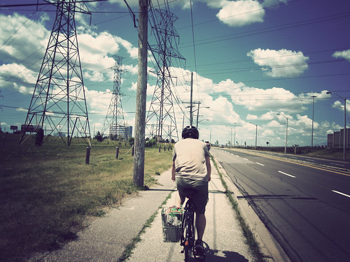 the bike path on Eglinton