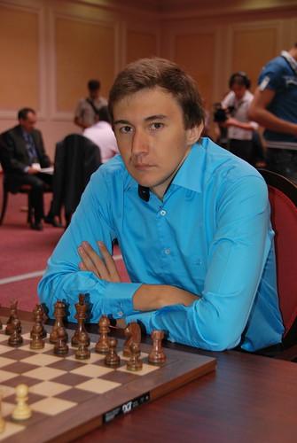 Сергей Карякин - один из лидеров первого дня\
