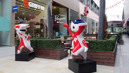 London 2012 Games mascots in Team GB colours